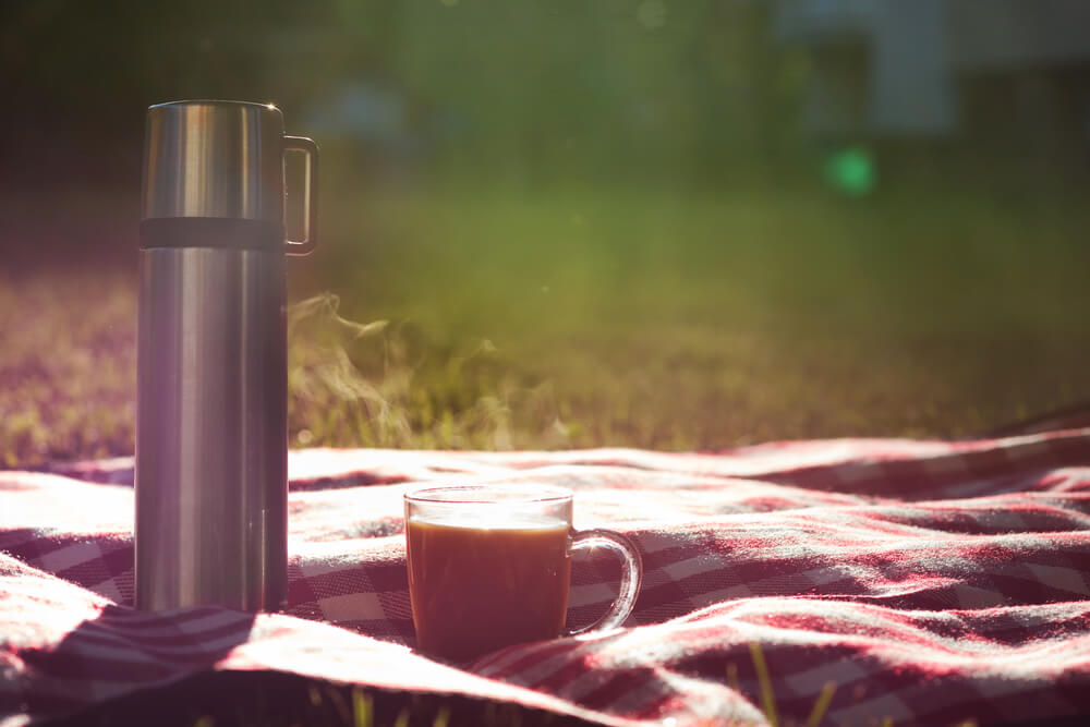 coffee in flask