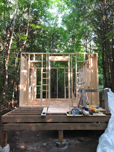 tiny house construction in progress