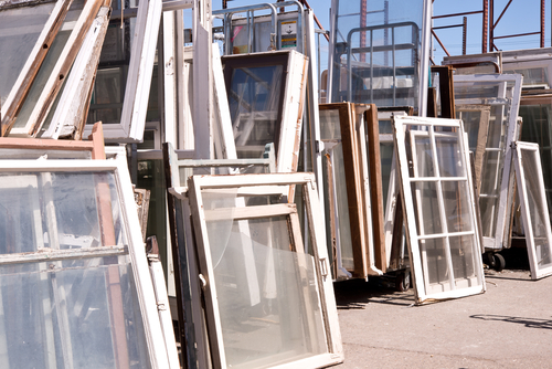window panes re-purposed materials for tiny home building