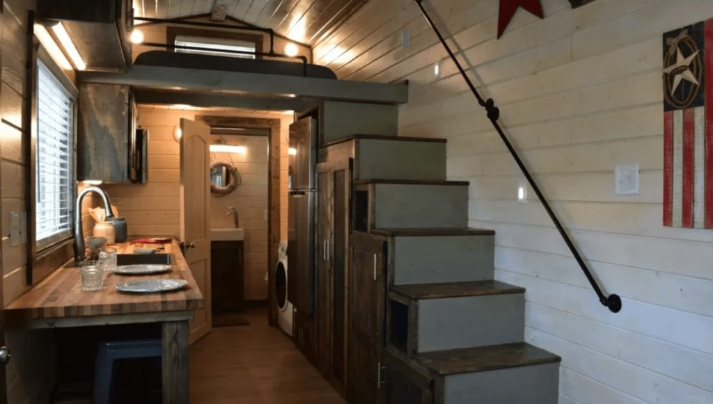interior view of tiny house by Tiny House Listings
