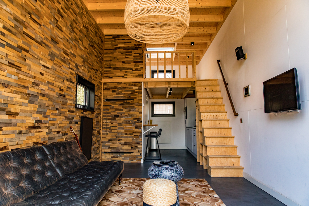 tiny house interior with loft - tiny house rooms